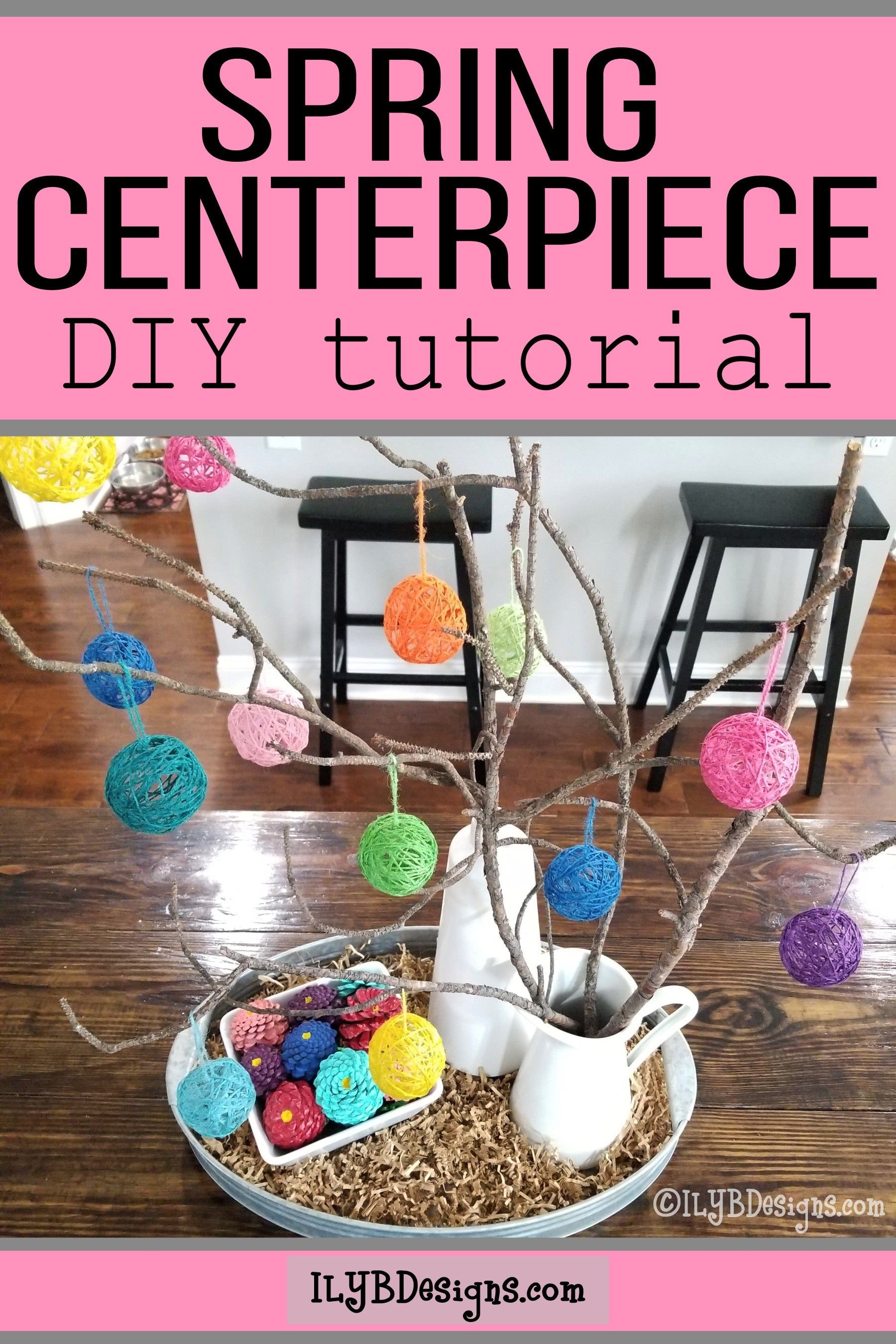 Spring Centerpiece DIY Tutorial