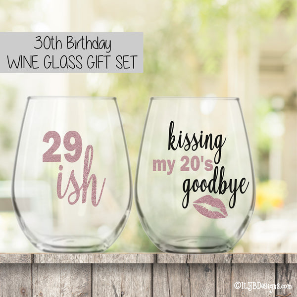 Birthday Wine Glasses