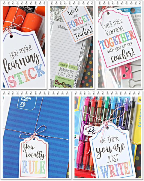 8f5b60ee1d45 Simply print and cut the tags you need and attach them to the school  supplies with a cute ribbon or twine and you re all set to surprise your  favorite ...