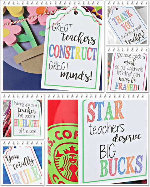 20 FREE Printable Teacher Supply Gift Tags