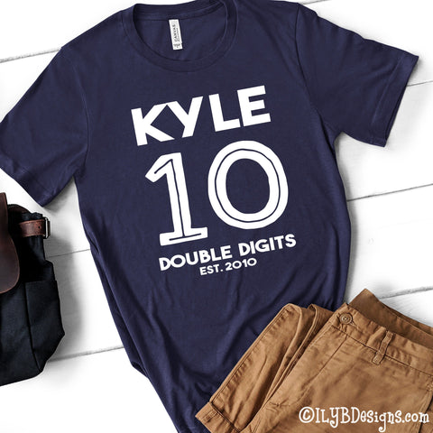 10th Birthday Shirt - Officially 10 Double Digits Tenth Birthday Shirt