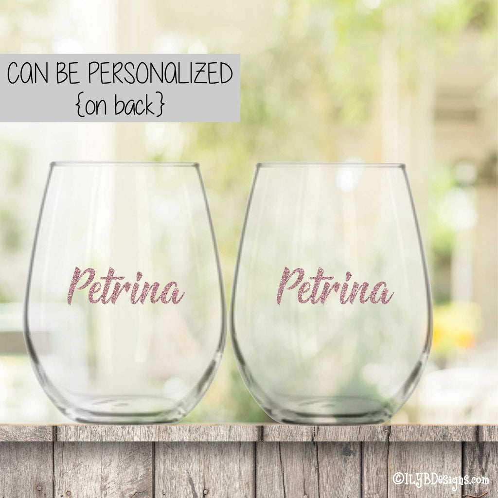 50th Birthday Wine Glass Set  -  VINTAGE & 50 SHADES OF FABULOUS | ILYB Designs