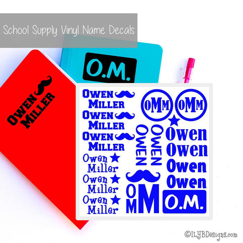 Back to School Name Labels - School Labels for Boys - ILYB Designs
