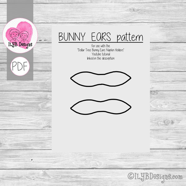 Bunny Ears Pattern Printable - PDF Printable File
