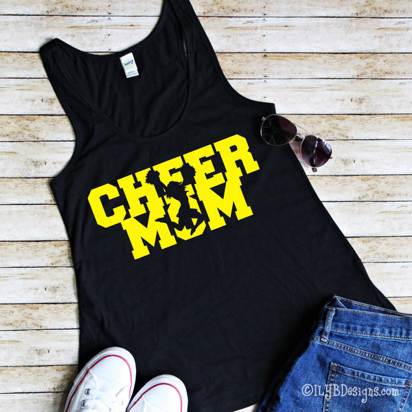Cheer Mom Tank - Cheer Mom Shirt - Personalized Cheer Mom Shirt - Cheer Competition Shirt - ILYB Designs