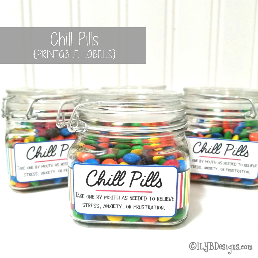 Chill Pills SVG, PNG, JPEG Cutting Files - ILYB Designs