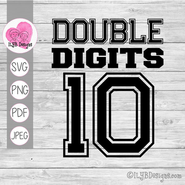 double digits 10 svg design