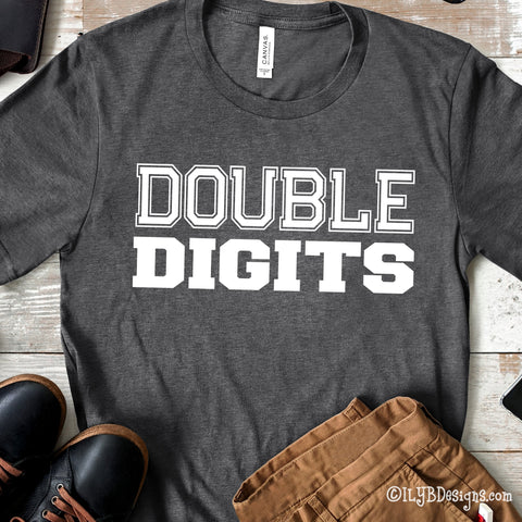DOUBLE DIGITS 10th Birthday Shirt - Tenth Birthday Shirt - ILYB Designs