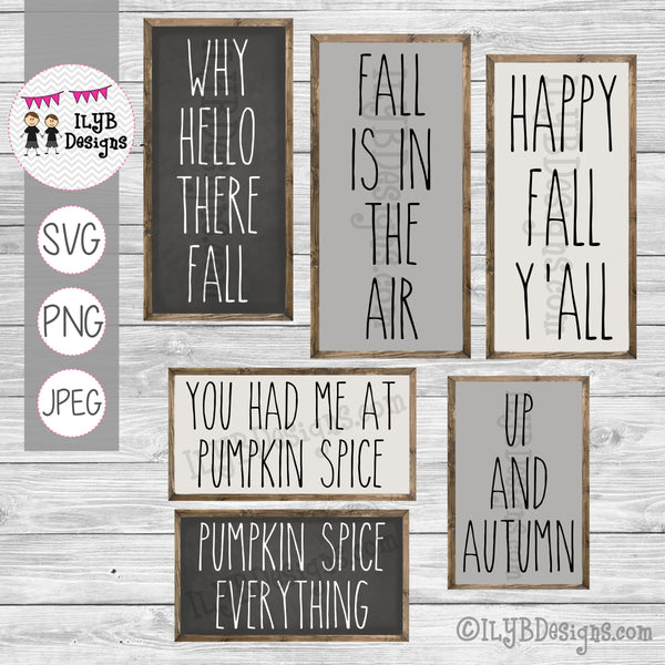 Fall Sayings SVG, PNG, and JPEG Cut Files