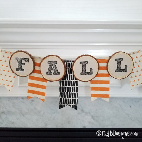 Fall Circle Letters - PDF, JPEG Printable Files