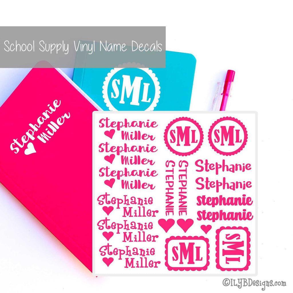 Back to School Name Labels - School Labels for Girls - ILYB Designs