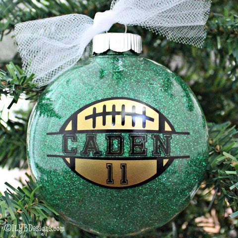 Football Ornament - Football Christmas Ornament - Sports Ornament - Custom Football Ornament