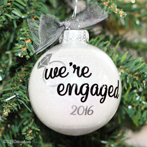 Engagement Christmas Ornament - Engagement Ornament - We're Engaged Ornament - Wedding Christmas Ornaments