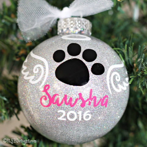 Pet Ornament Personalized - Pet Ornament Memorial - Dog Ornament Memorial - Cat Christmas Ornament Memorial - Rainbow Bridge Ornament