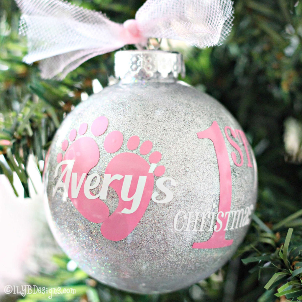 Baby's 1st Christmas Ornament Baby Girl - Baby's First Christmas | ILYB Designs