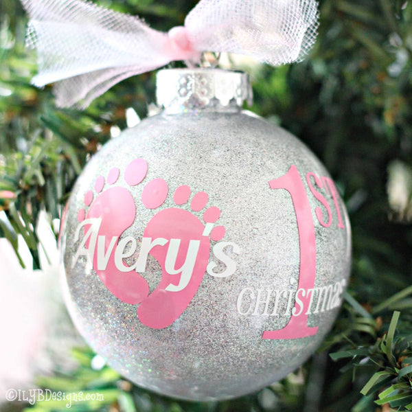 Baby's 1st Christmas Ornament Baby Girl - Baby's First Christmas