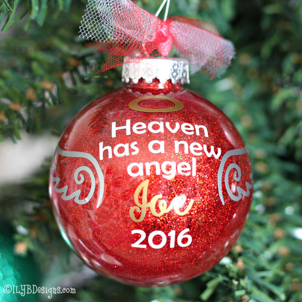 Angel Ornament -Memory Ornament - In Loving Memory Christmas Ornament - Memorial Christmas Ornament - Angel Christmas Ornament