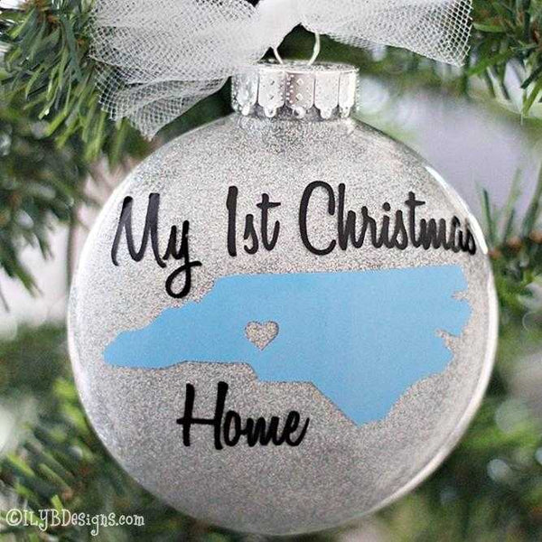 "Adoption Christmas Ornament - ""My 1st Christmas Home"" Christmas Ornament - Adoption Ornament - Adoption Gift - ILYB Designs"