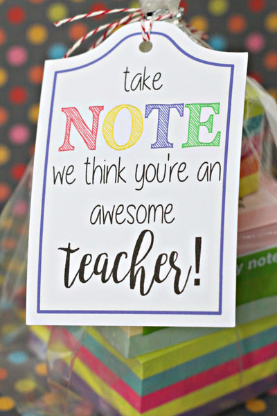 20 TEACHER SCHOOL SUPPLY TAGS printable - ILYB Designs