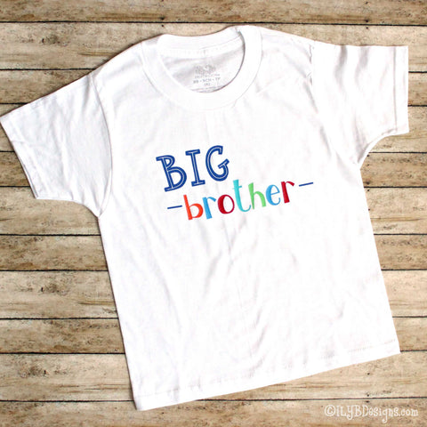 BIG BROTHER Children's T-shirt - BIG BROTHER kids tee - ILYB Designs