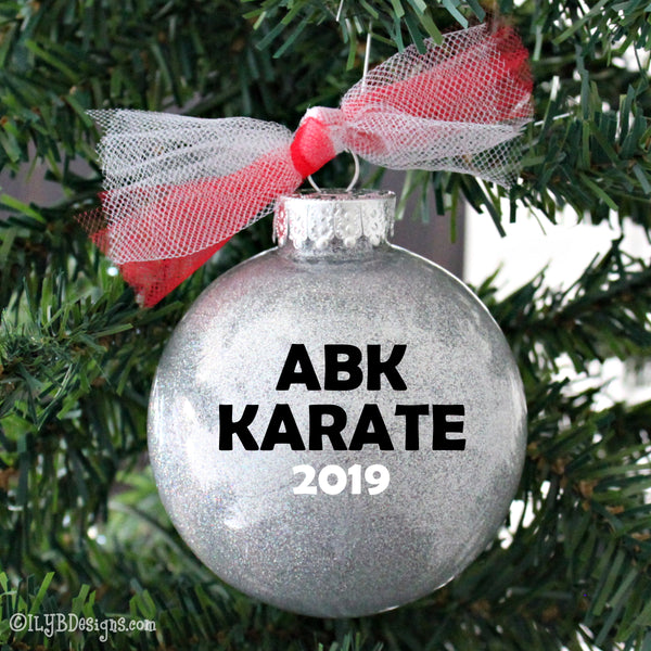 Karate Girl Christmas Ornament - Taekwondo Girl Christmas Ornament - Martial Arts Girl Ornament -Sports Ornament