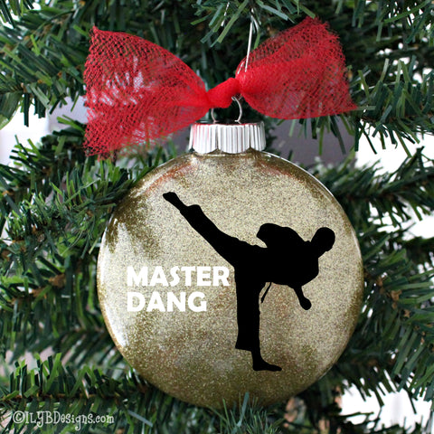 Karate Christmas Ornament - Taekwondo Christmas Ornament - Martial Arts Ornament -Sports Ornament