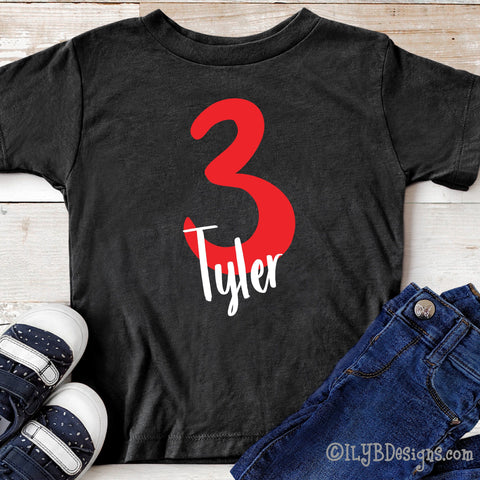 Birthday Shirt Personalized with Age & Child's Name - Custom Birthday Shirt for Any Age