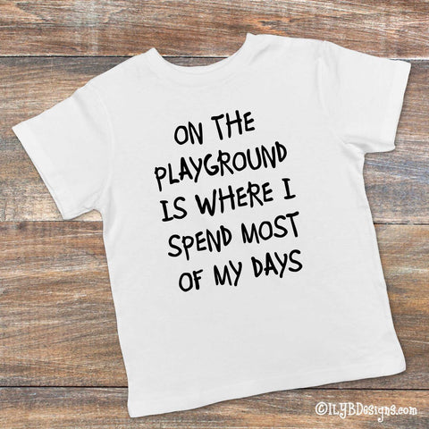 Funny Kids T-shirt - ON THE PLAYGROUND Children's T-shirt - ILYB Designs