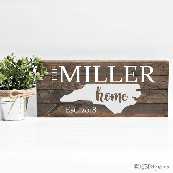HOME STATE sign STATE HOME ESTABLISHED sign FAMILY ESTABLISHED sign PAINTED WOOD sign | ILYB Designs