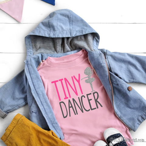 Tiny Dancer Shirt - Dance Shirt - Little Girl Dancer Shirt - Little Girls Shirts - Dancer Gift - Shirt for Dancer - Dance T-shirt