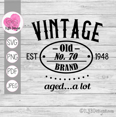 Vintage Aged a Lot SVG, Vintage Birthday SVG Cut File