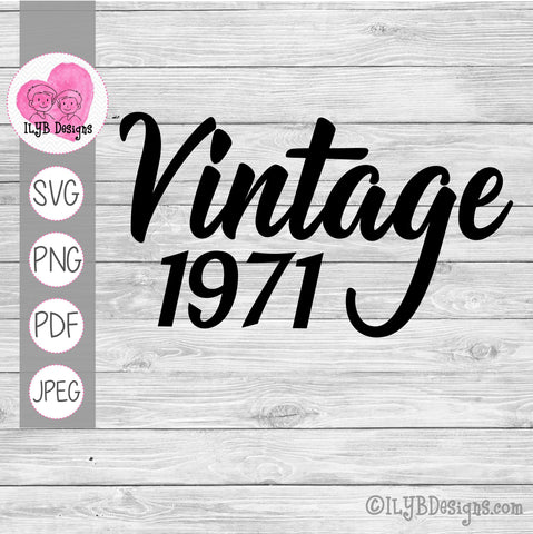 Vintage (year) svg design. Can be customized with any birth year.