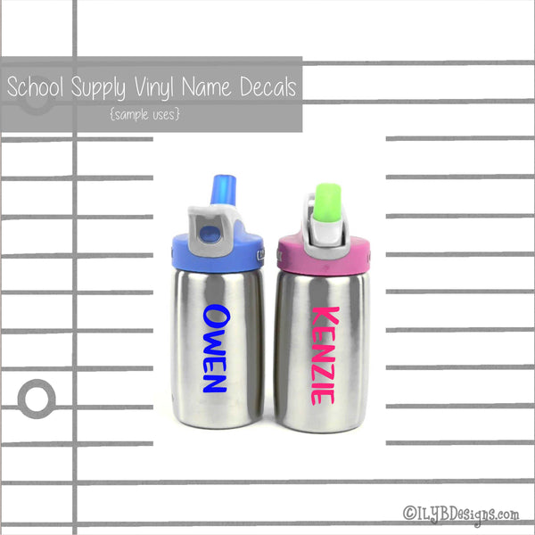 Basketball Back to School Name Labels - School Supply Labels for Boys - ILYB Designs