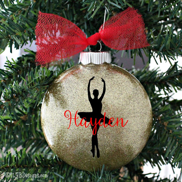 Ballerina Christmas Ornament - Ballet Christmas Ornament - Ballet Ornament - Dancer Christmas Ornament - ILYB Designs