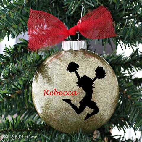 Cheerleader Ornament - Cheerleading Ornament - Cheer Ornament - Cheerleader Christmas Ornament - Cheerleading Ornament - Cheerleader Gifts