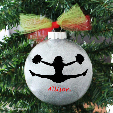 Cheerleading Ornament - Cheerleader Ornament - Cheer Ornament - Cheerleading  Christmas Ornament - Cheerleader Ornament - - Christmas Ornaments - Personalized Christmas Ornaments ILYB