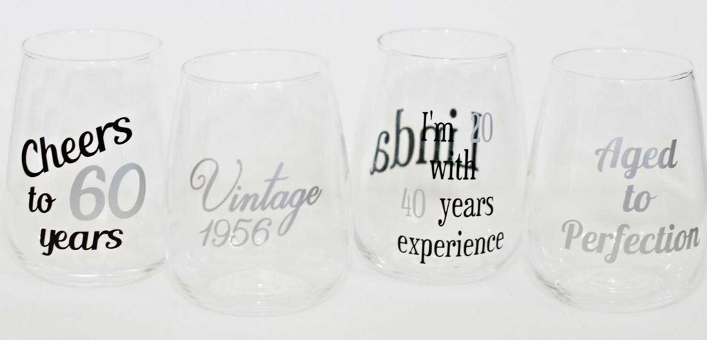 60th Birthday Wine Glass - ILYB Designs