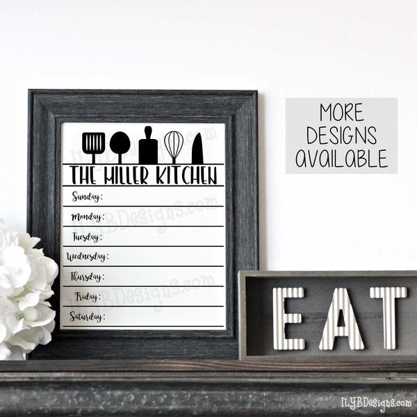Menu Board - Black Distressed 8x10 Frame - ILYB Designs