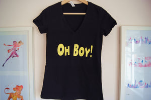 Oh Boy! Women's V-Neck Tee