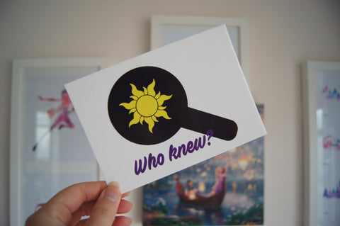 Who Knew Postcard Print