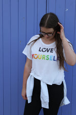 Load image into Gallery viewer, Love Yourself Flowy Tee