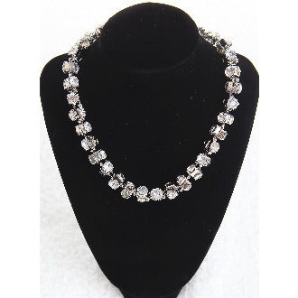 Dazzling Short Diamond Necklace - Silver - Dazzle Her Now