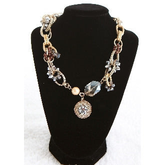 Gold Chain Link Charm Necklace - Dazzle Her Now