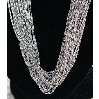 Silver Long Strand Necklace