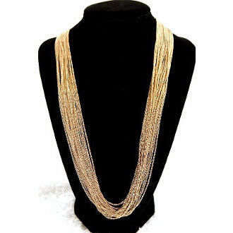Gold Long Strand Necklace - Dazzle Her Now