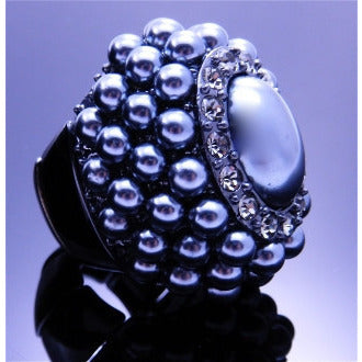 Gray Pearl Ring - Dazzle Her Now