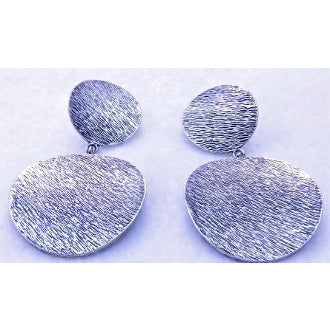 Double Coin Earrings - Silver - Dazzle Her Now