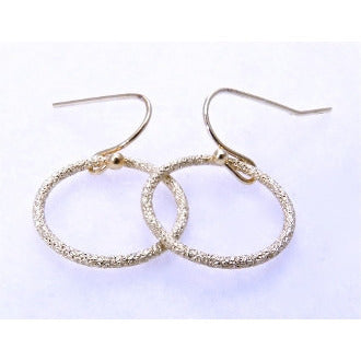 Gold Circle Earrings - Dazzle Her Now