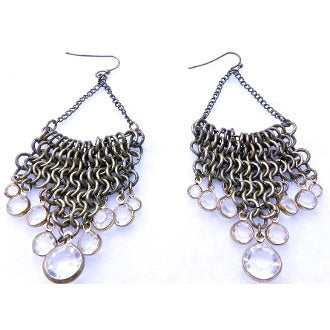 Chain Chandelier Earring-Gold - Dazzle Her Now