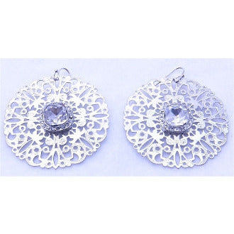 Snowflake Crystal Silver Earrings - Dazzle Her Now